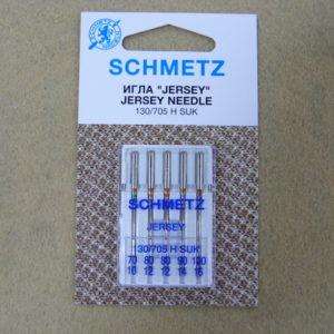 Игла Schmetz 130/705H SUK №70(1), №80(2), №90(1), №100(1) Набор 5 штук