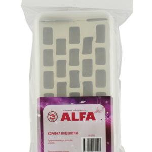 Коробка под шпули пластик ALFA AF-2110 с двумя нитевдевателями