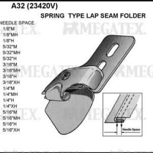 Приспособление A32 1/4″M (6,4мм) шов в замок
