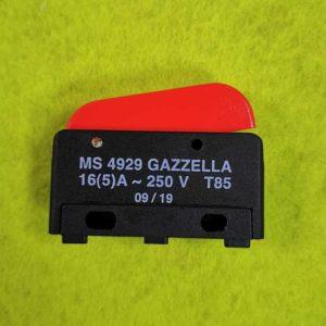 Gazzella Кнопка подачи пара SY MS 4929, 16A/250V, Т85
