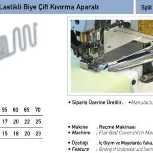 Приспособление UMA — 72 (окантователь в 4 сложения 35-10мм) с резинкой 8мм